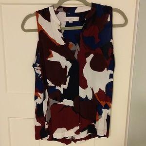 Colorful LOFT sleeveless blouse